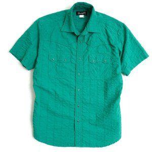 Wrangler Mens Pearl Snap Button Up Short Sleeve Sh